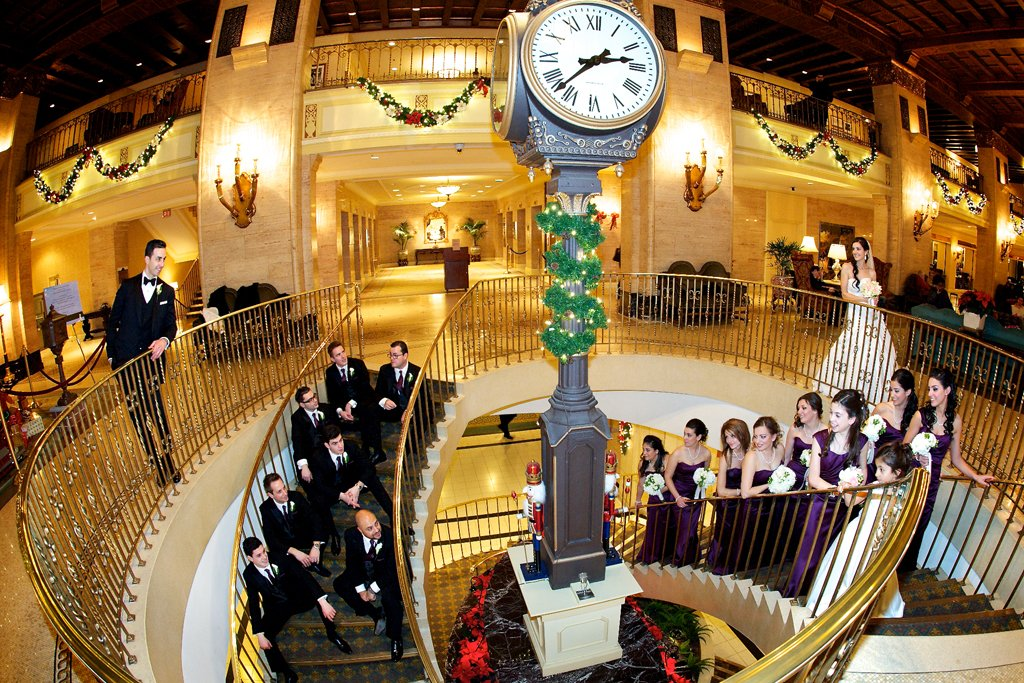 wedding party at the Royal York Hotel