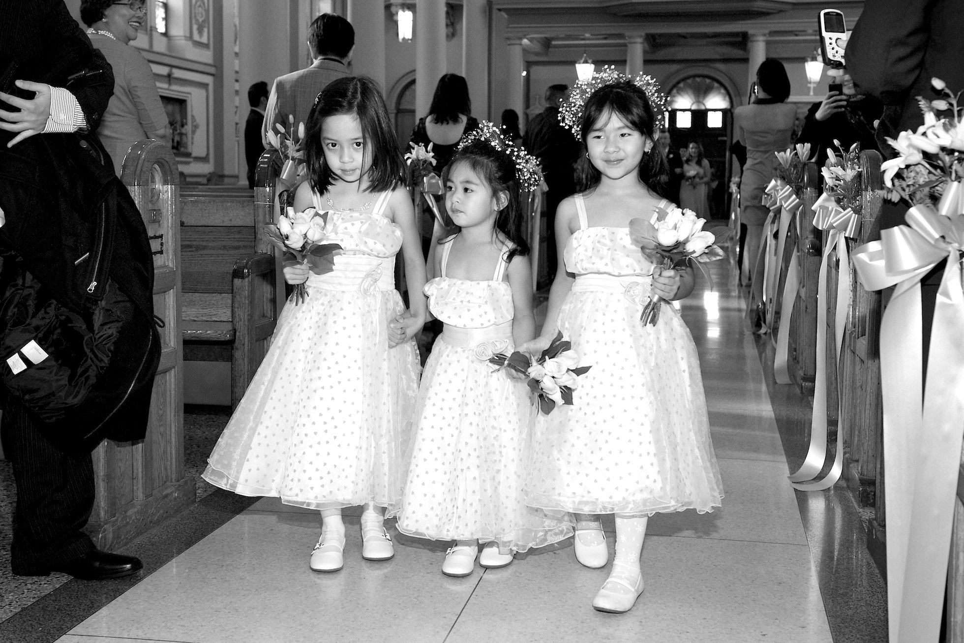 flower girls at Saint Patricks Church Toronto