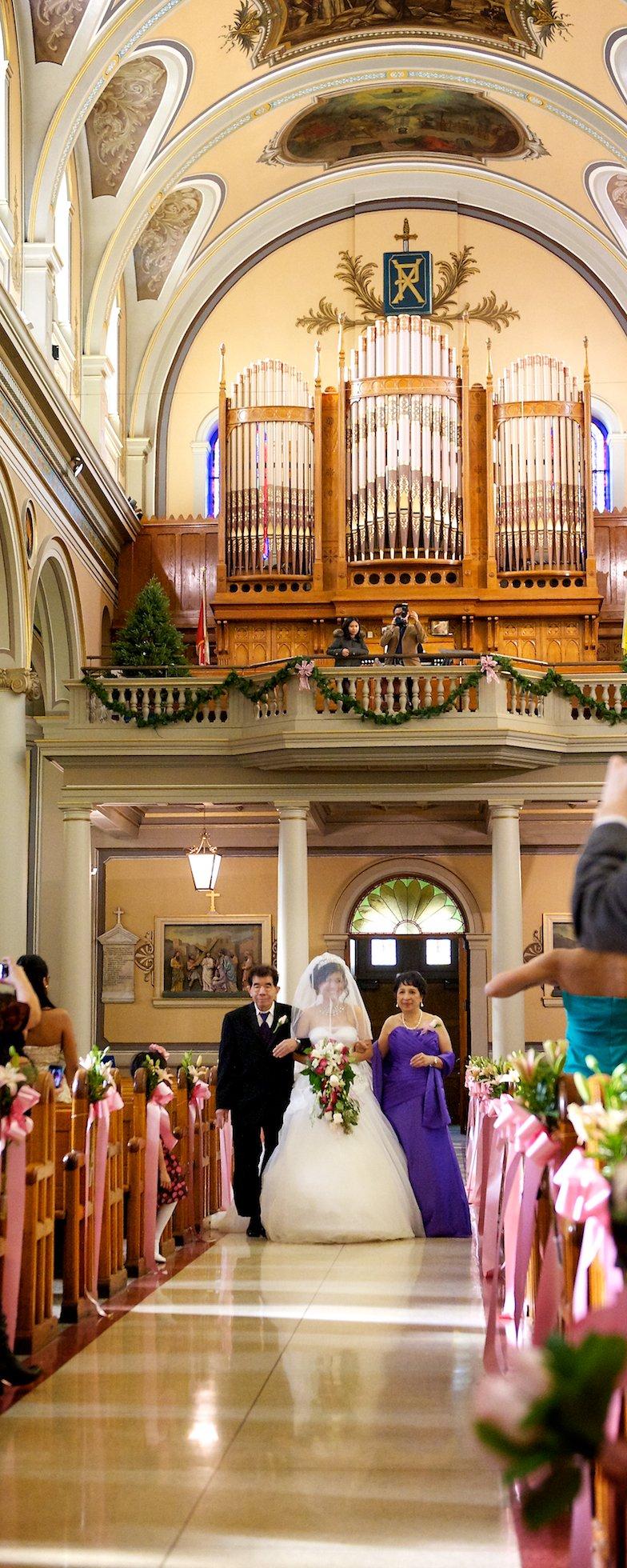 ceremony at Saint Patricks Church Toronto