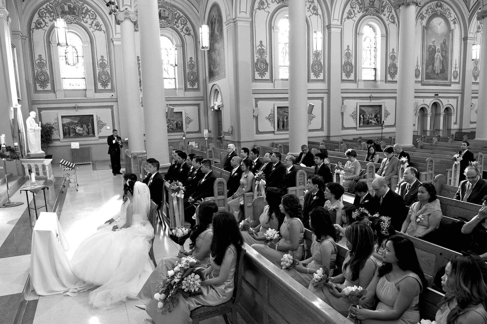 wedding ceremony at Saint Patricks Church Toronto