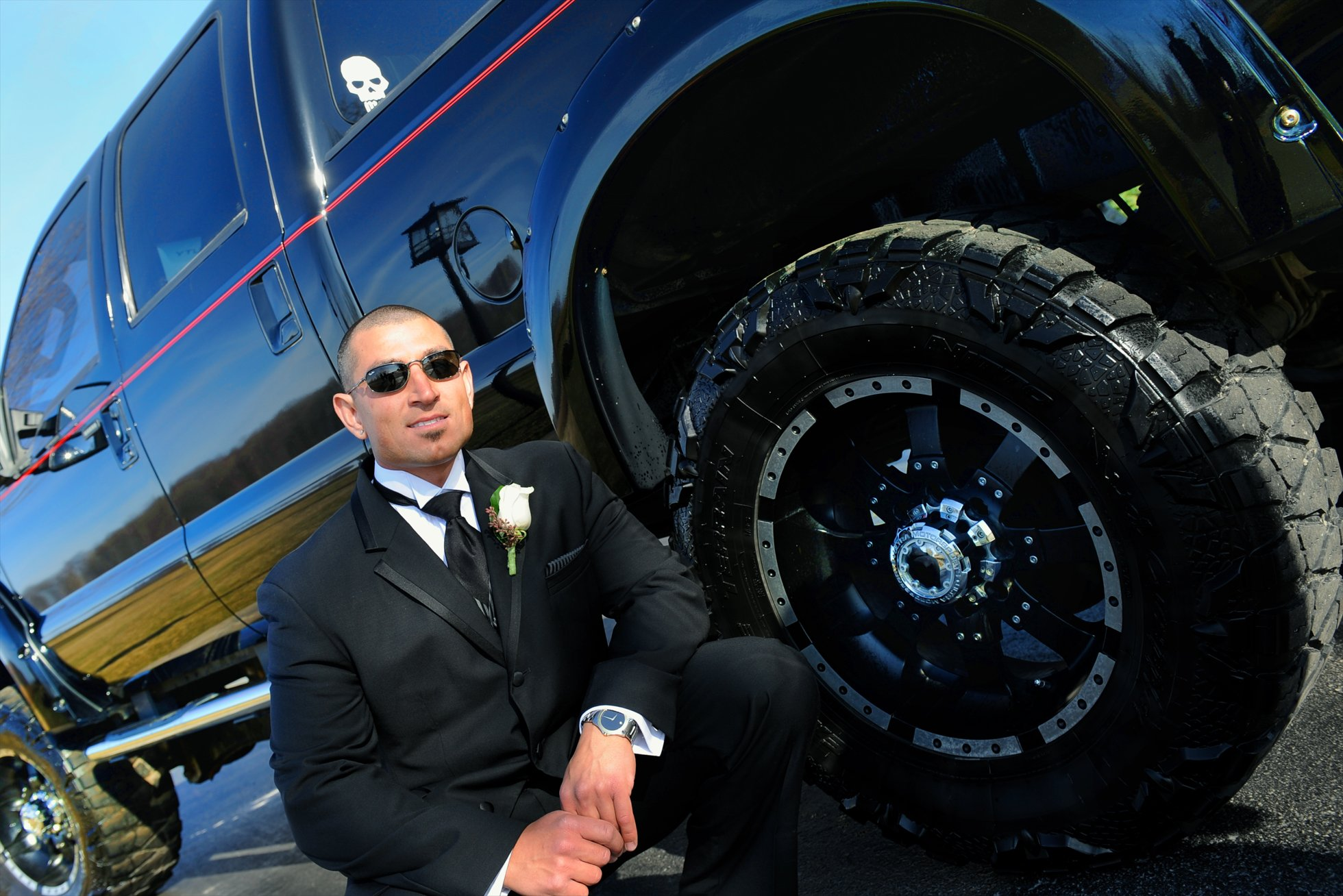 toronto groom and his truck