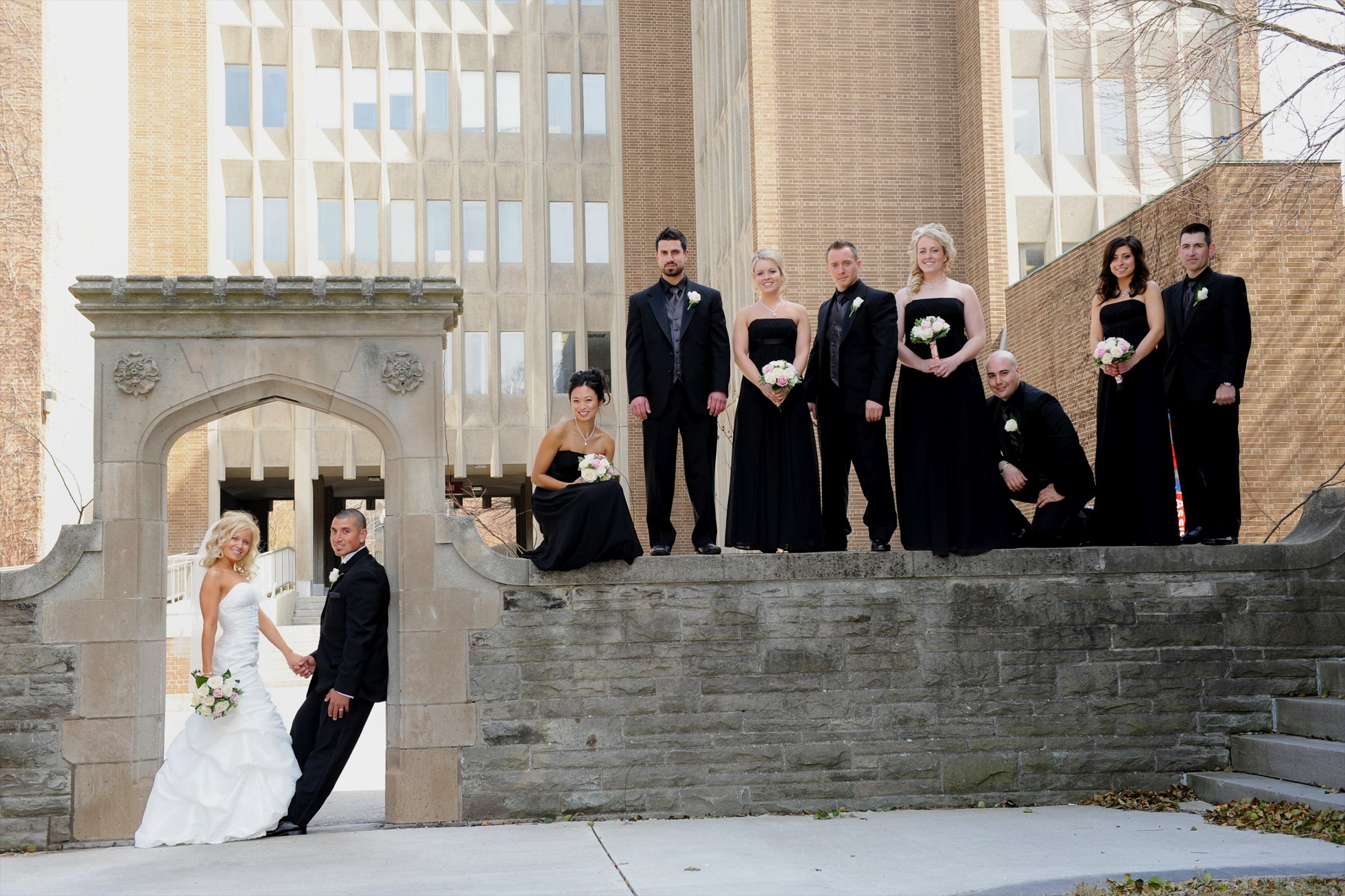 wedding party at McMaster