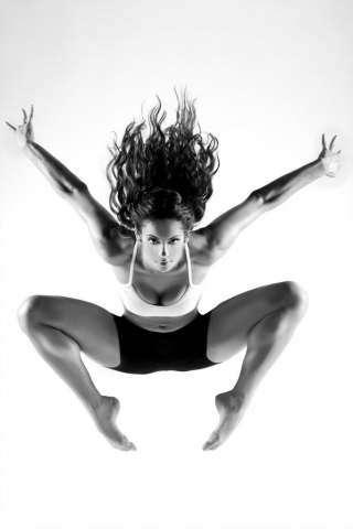 Black and white dance photography