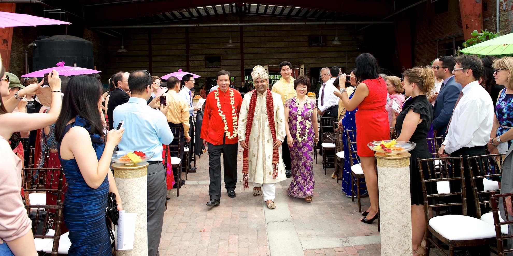 Brick Works hindu outdoor ceremony