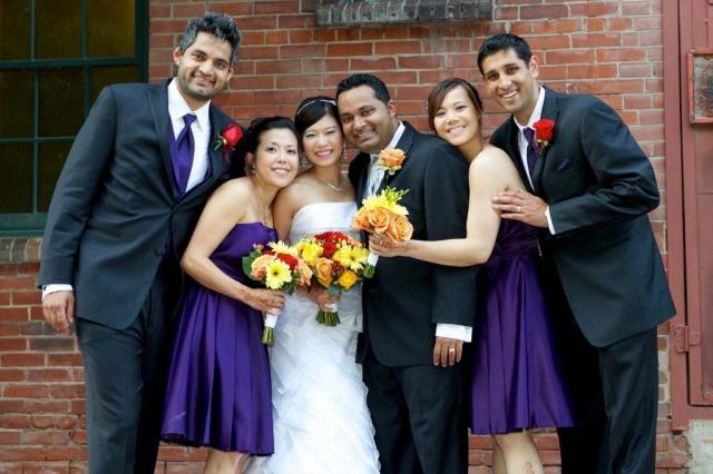 Brick Works toronto wedding party