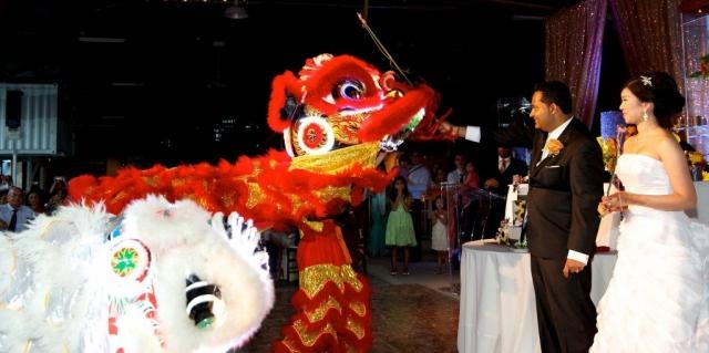 Asian dragons for wedding entertainment