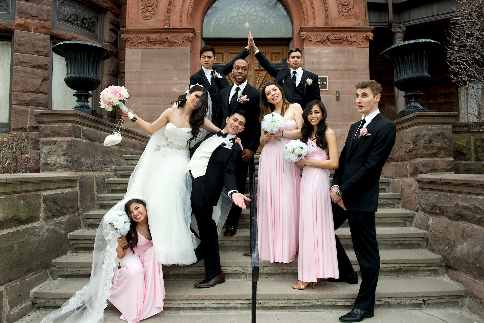 wedding party at the Scottish Rite