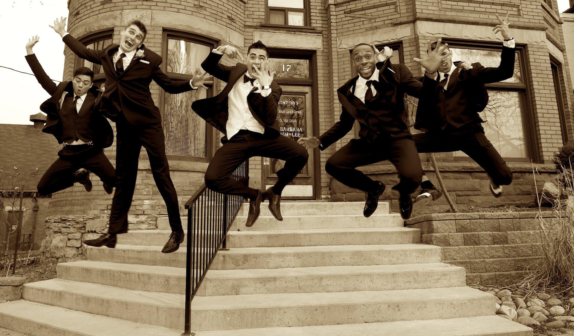 groomsmen at the Scottish Rite