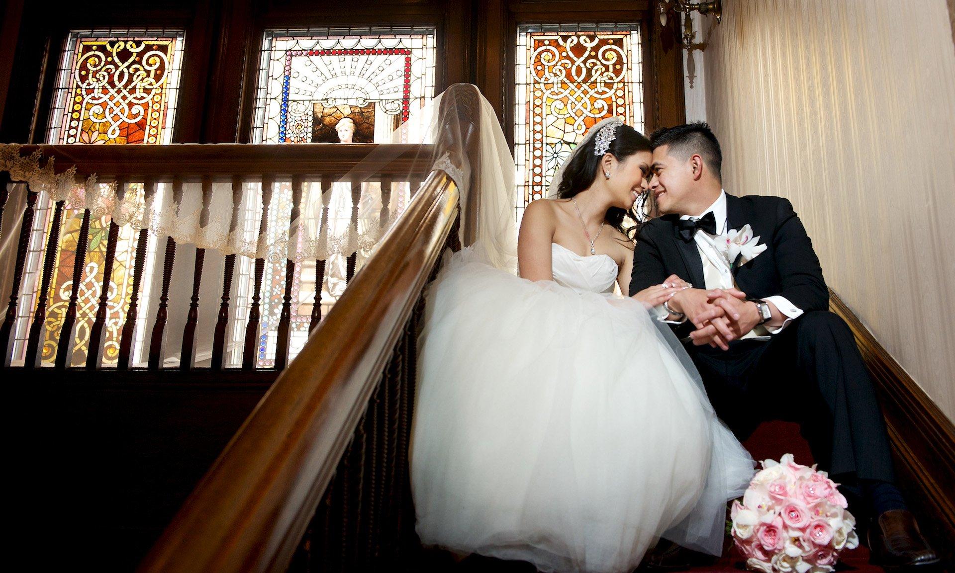 Wedding photos at the Scottish Rite